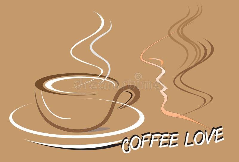 Mens en koffieart royalty-vrije illustratie
