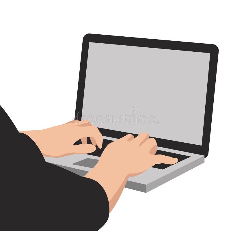Mens en notitieboekje de vectorvoorzijde van de illustratie vlakke stijl vector illustratie