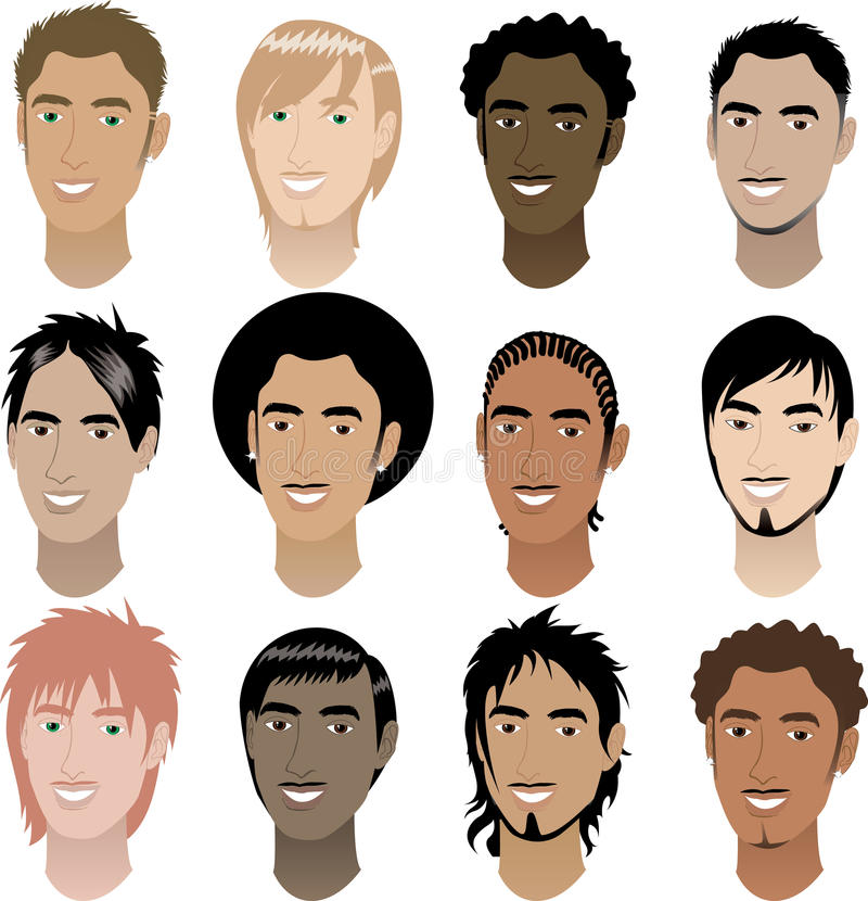 Mens Faces 4 Stock Photo