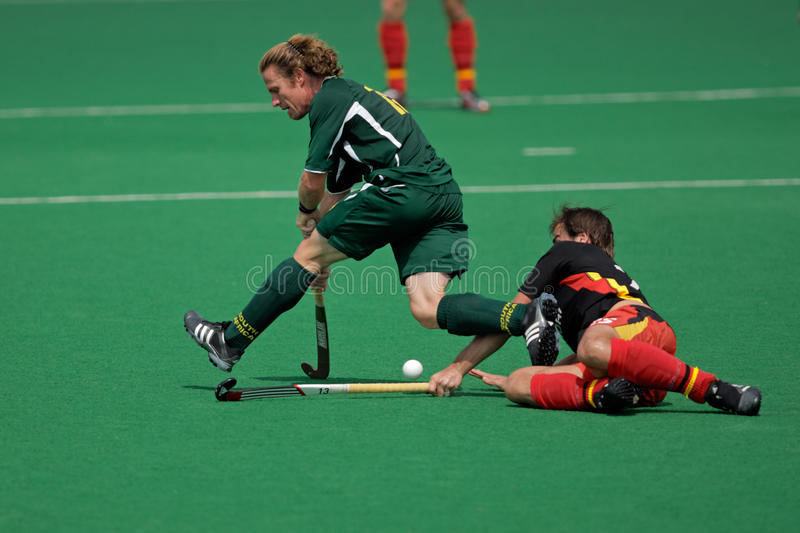 Download Mens field hockey action editorial stock image. Image of africa - 12540209