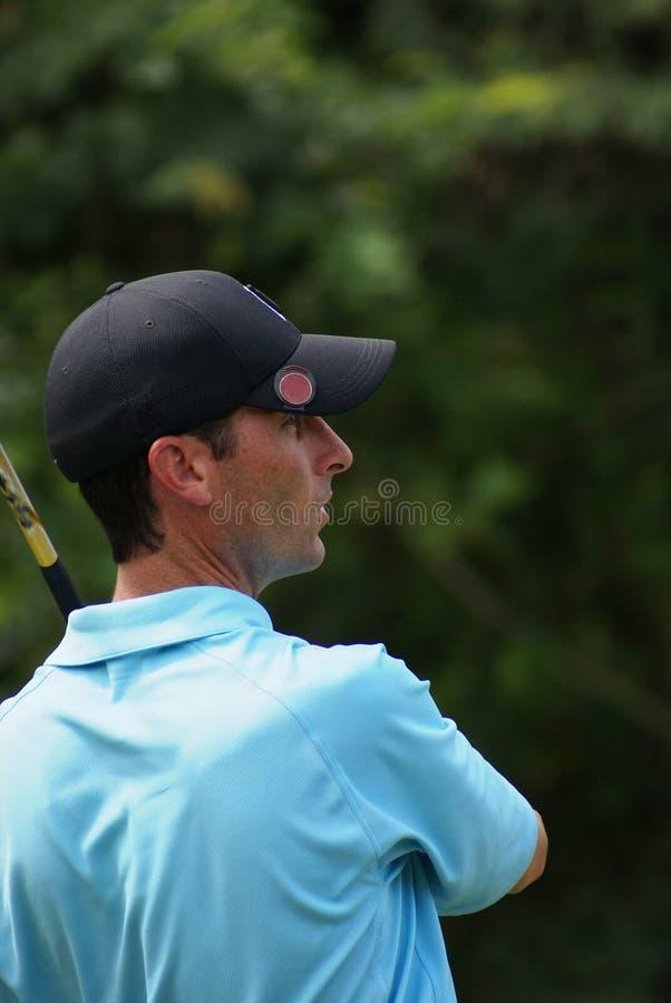 Mens Golfing stock foto