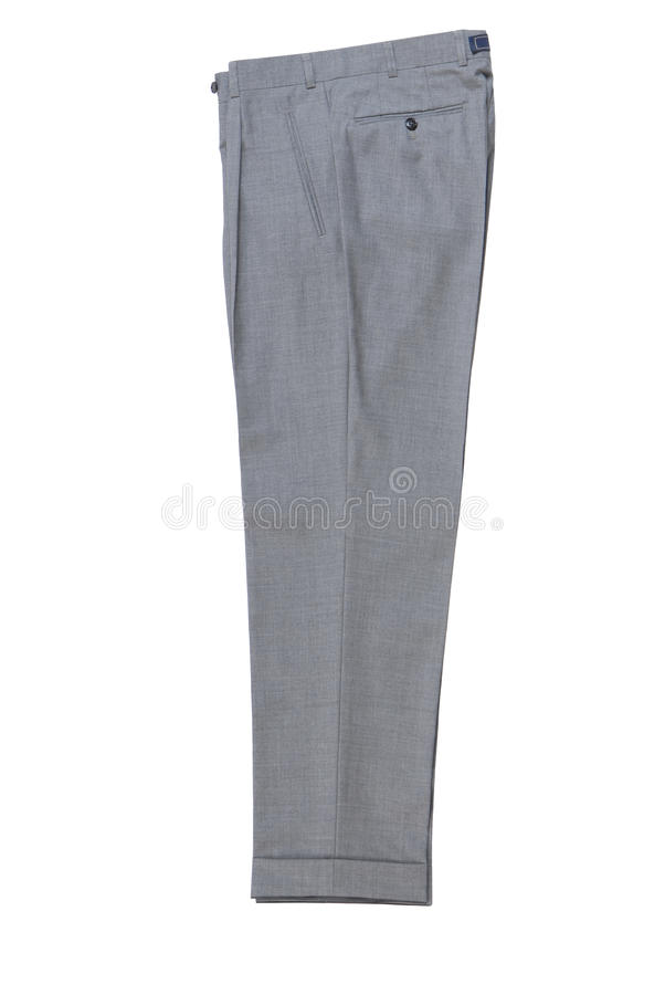 Mens grey classical trousers. royalty free stock images