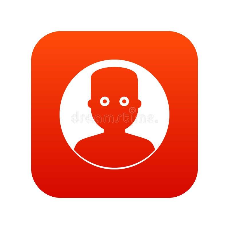 Mens in het donkere pictogram digitale rood stock illustratie
