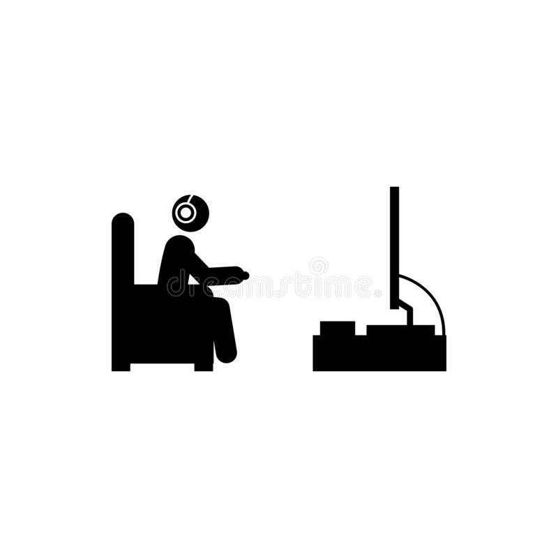 mens het spelen pictogram Element van gamerpictogram voor mobiel concept en Web apps Glyphmens het spelen het pictogram kan voor  vector illustratie