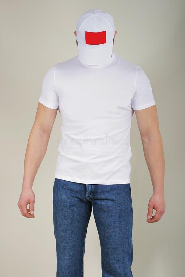 Mens in jeans royalty-vrije stock foto