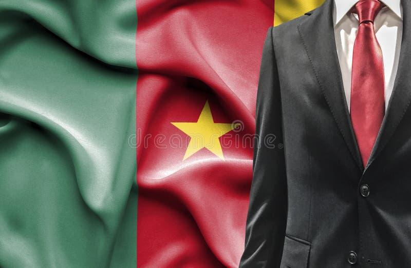 Mens in kostuum van Kameroen royalty-vrije stock foto's