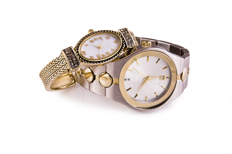 Download Mens And Ladies Wristwatches Royalty Free Stock Images - Image: 3367549