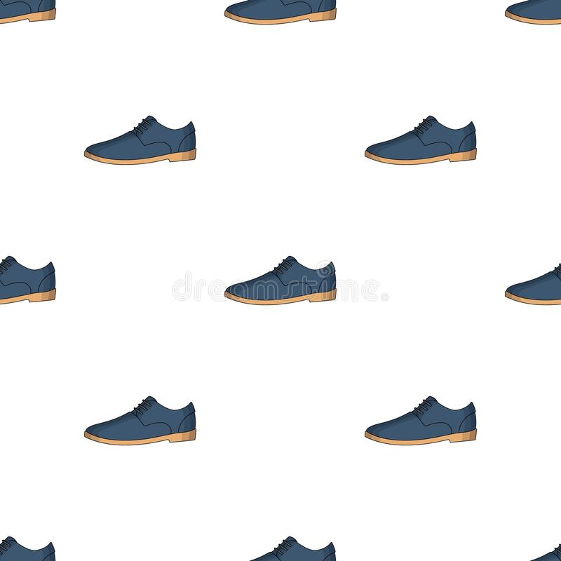 Mens leather shiny shoes with laces. Shoes to wear with a suit.Different shoes single icon in cartoon style vector stock illustration