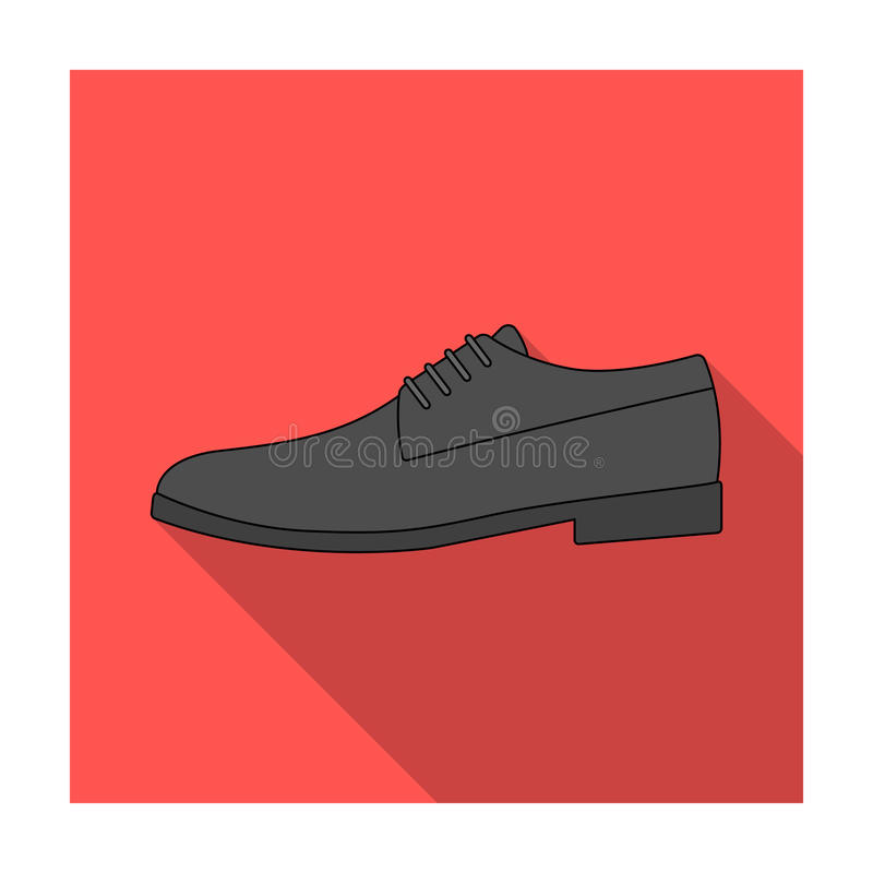 Mens leather shiny shoes with laces. Shoes to wear with a suit.Different shoes single icon in flat style vector symbol. Stock web illustration vector illustration