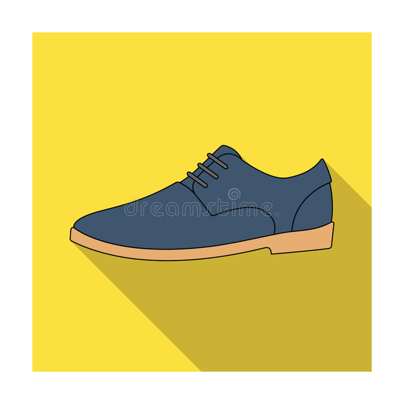 Mens leather shiny shoes with laces. Shoes to wear with a suit.Different shoes single icon in flat style vector symbol. Stock web illustration royalty free illustration