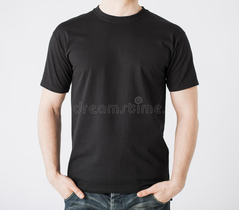 Mens in lege t-shirt stock foto