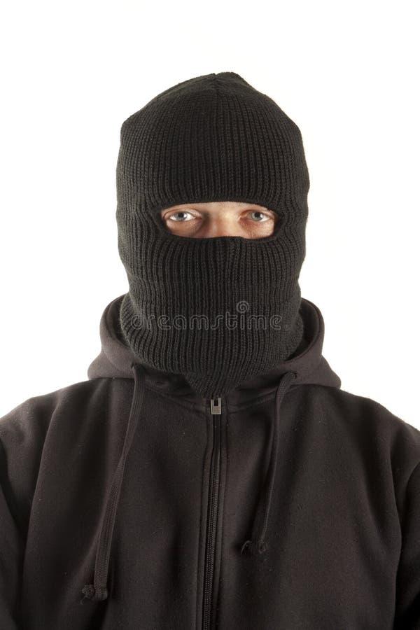 Mens in masker stock foto's