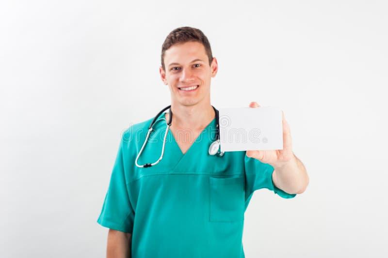 Mens in medische eenvormig stock foto's