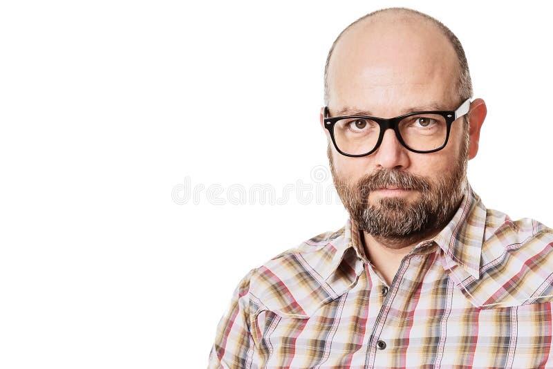 Mens met baard stock foto