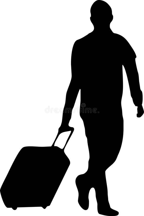 Mens met bagage stock illustratie