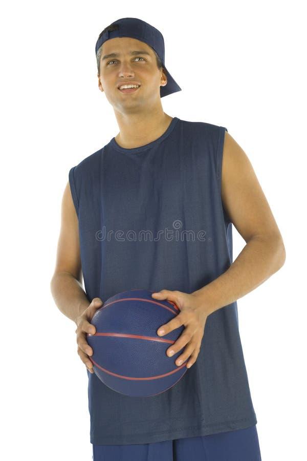 Mens met basketbal royalty-vrije stock afbeeldingen