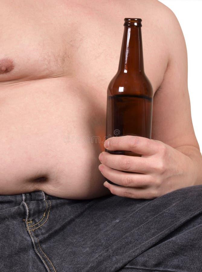 Mens met bier royalty-vrije stock foto's