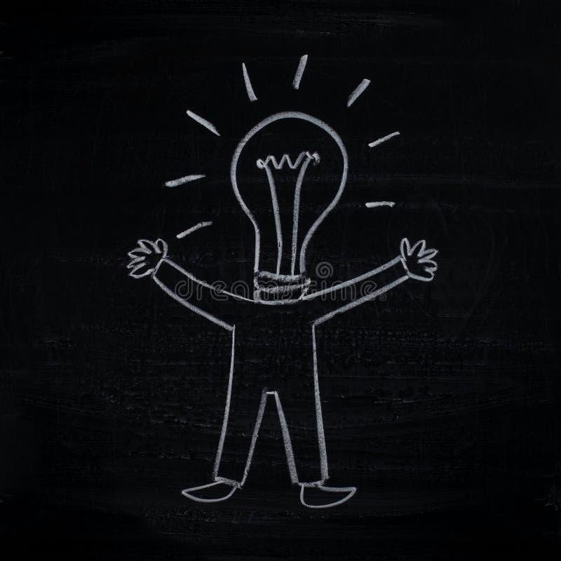 Mens met creatief idee (mens-bol) royalty-vrije illustratie