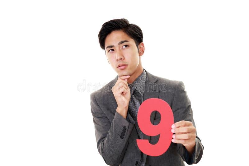 Mens met een aantal stock fotografie