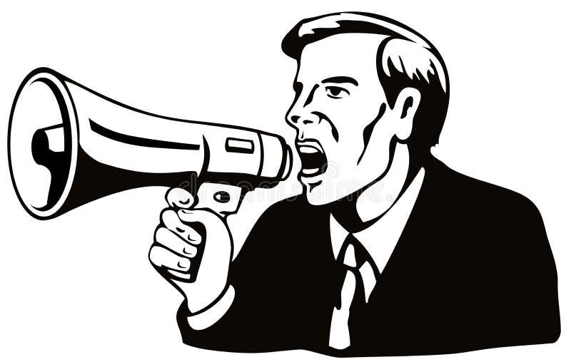 Mens met een megafoon vector illustratie