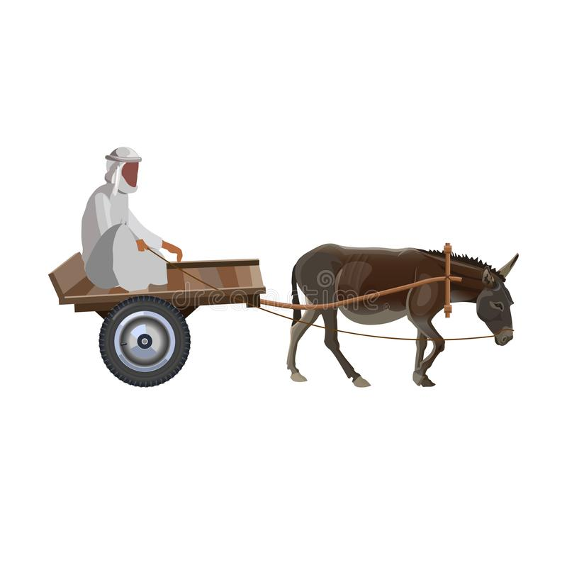 Mens met ezelskar vector illustratie