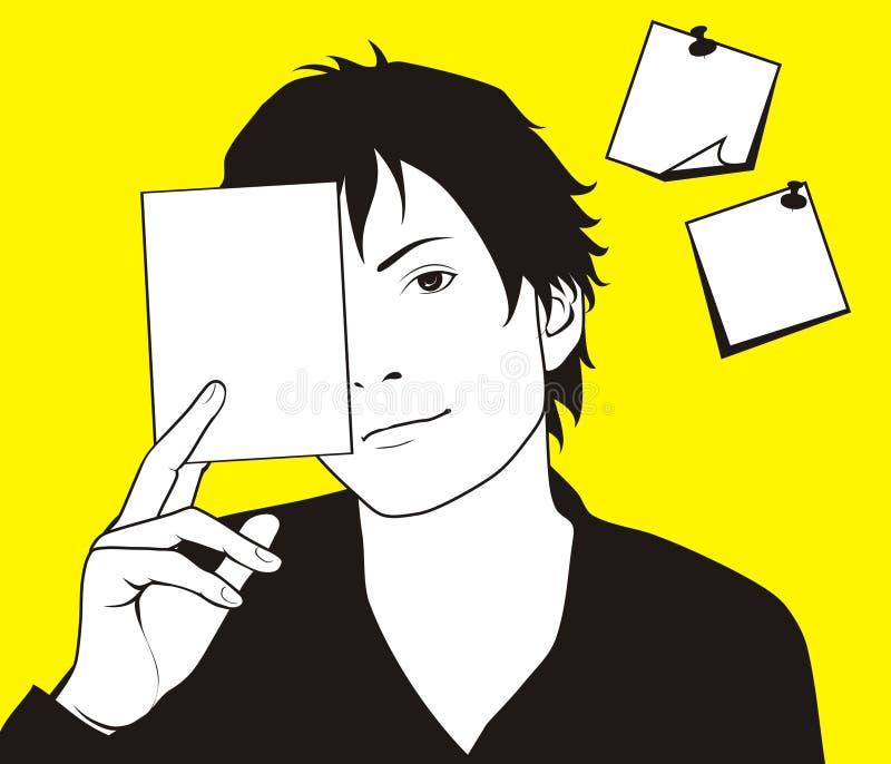 mens met kaarten vector illustratie