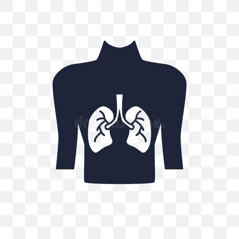 Mens met nadruk op het longen transparante pictogram Mens met nadruk vector illustratie