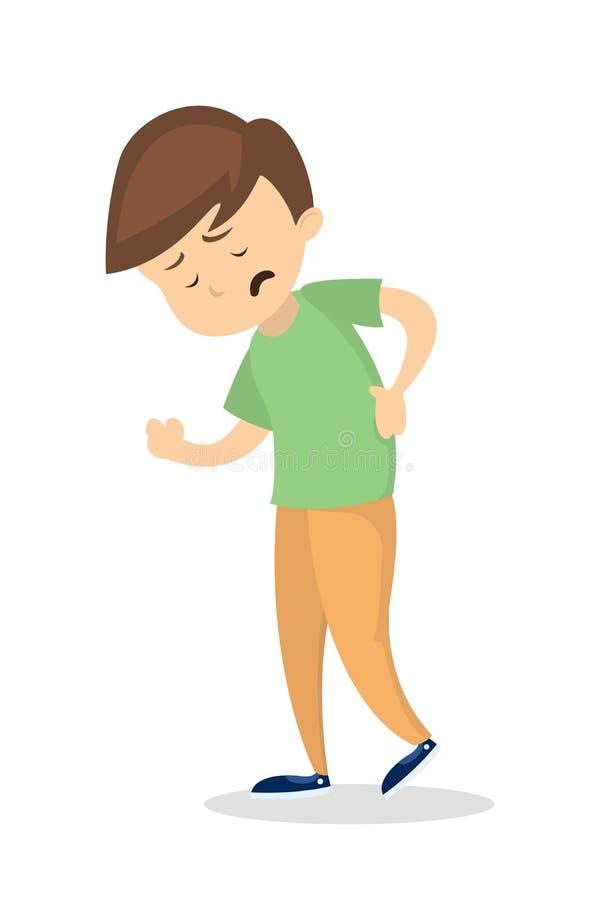 Mens met rugpijn vector illustratie