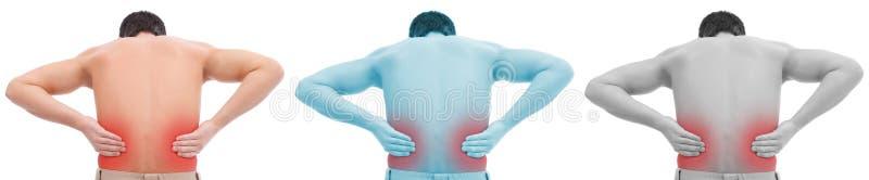 Mens met rugpijn stock illustratie