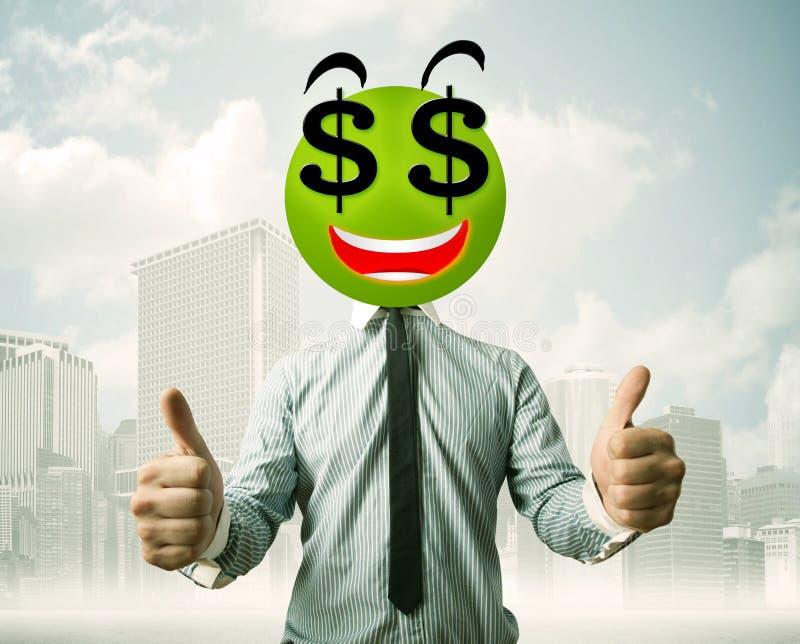 Download Mens Met Smileygezicht Van Het Dollarteken Stock Foto - Afbeelding bestaande uit gelukkig, hoofd: 54089794