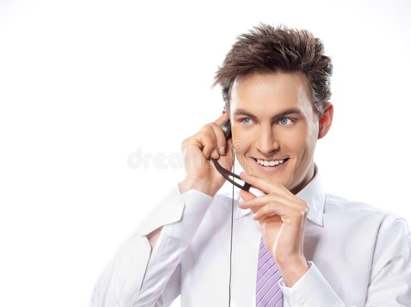 Mens met telefoon stock afbeelding