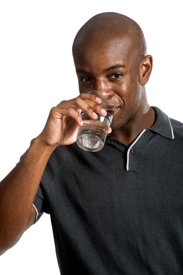 Mens met Water royalty-vrije stock foto