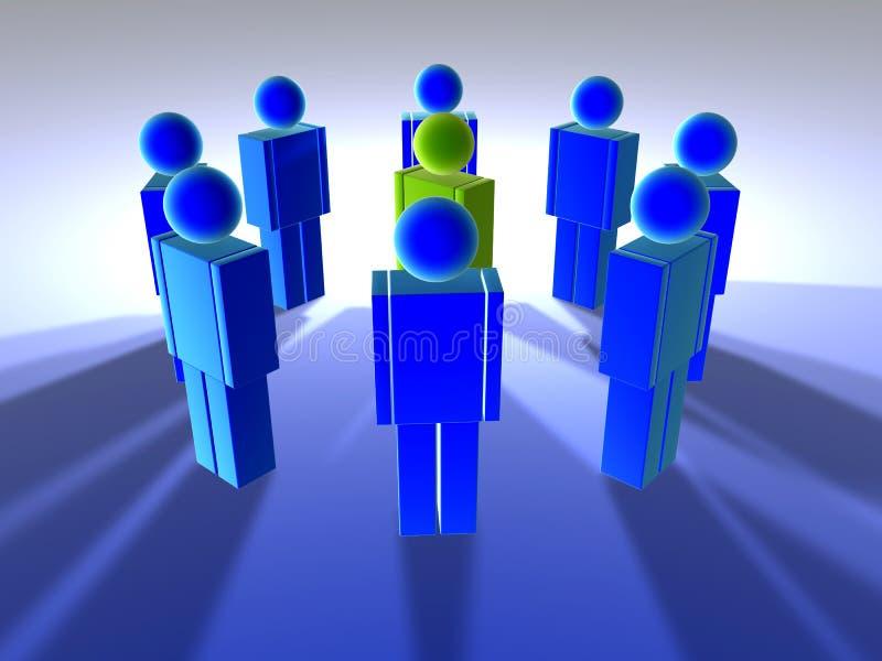 Mens in Midden 1 vector illustratie