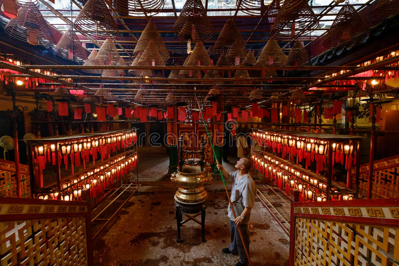 Mens Mo Temple van Hong Kong royalty-vrije stock foto's