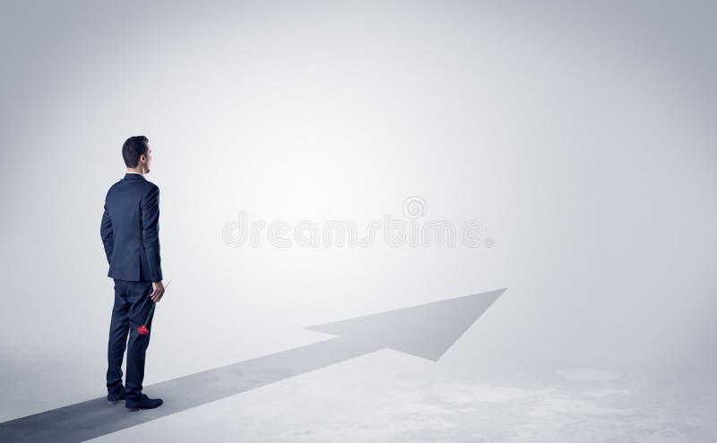 Mens op de richting van succes vector illustratie