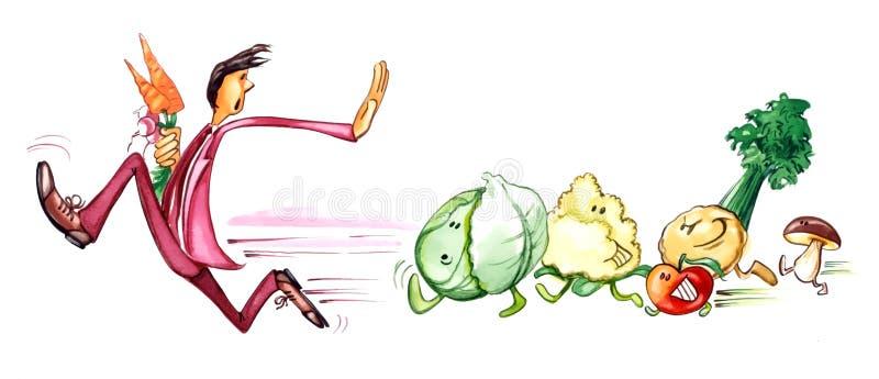 Mens op dieet vector illustratie
