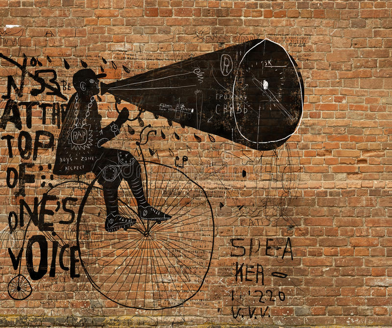 Mens op een fiets vector illustratie