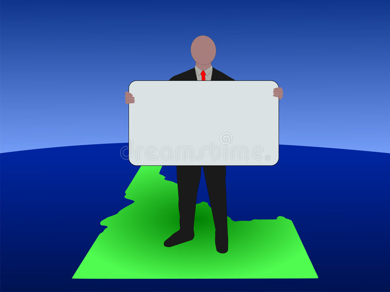 Mens op Idaho met teken royalty-vrije illustratie
