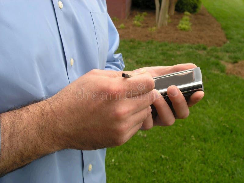 Mens PDA stock foto's