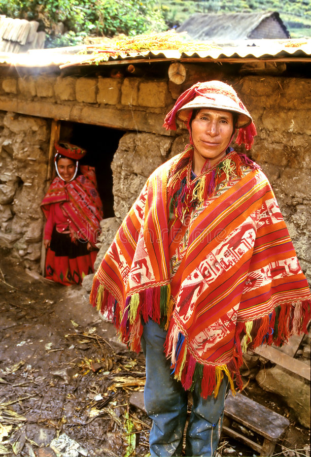 Mens Peru royalty-vrije stock foto