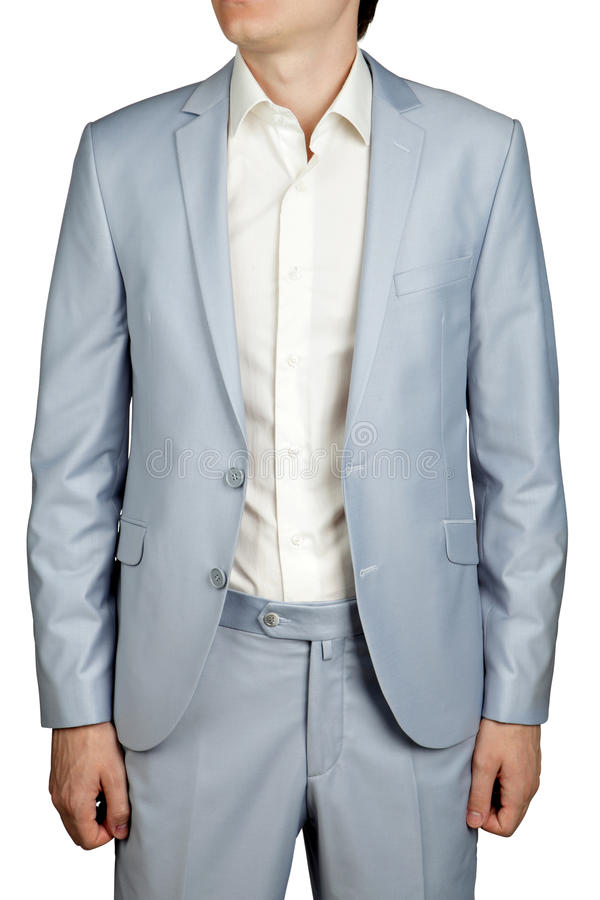 Mens Prom Dress Suit, Light Blue Pastel Blazer And Trousers. Stock ...
