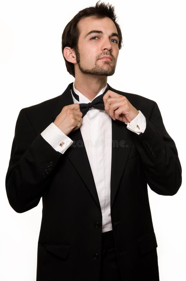 Mens in smoking stock foto