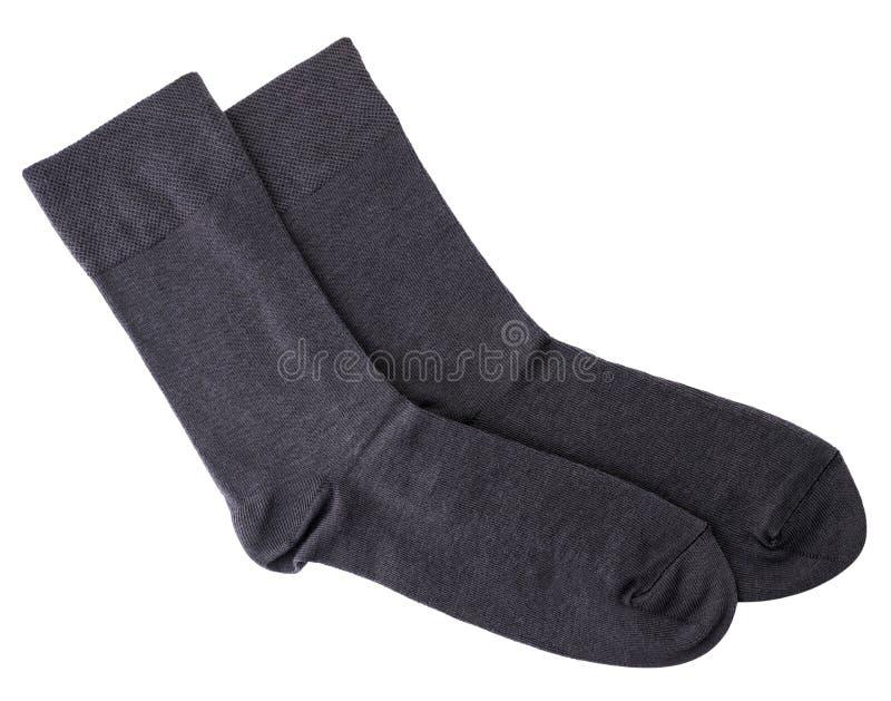 Mens sokken op een witte achtergrond geïsoleerd stock foto