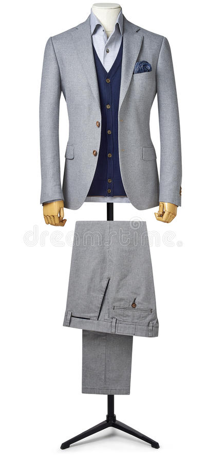 Mens suit isolated on white with clipping path stock images