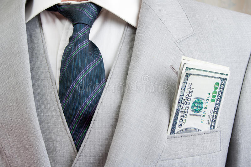Download Mens suit with money stock photo. Image of notes, business - 22470454