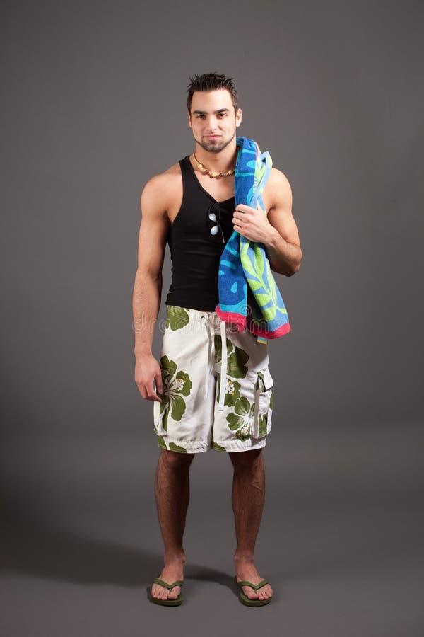 Mens in Swimwear royalty-vrije stock foto's