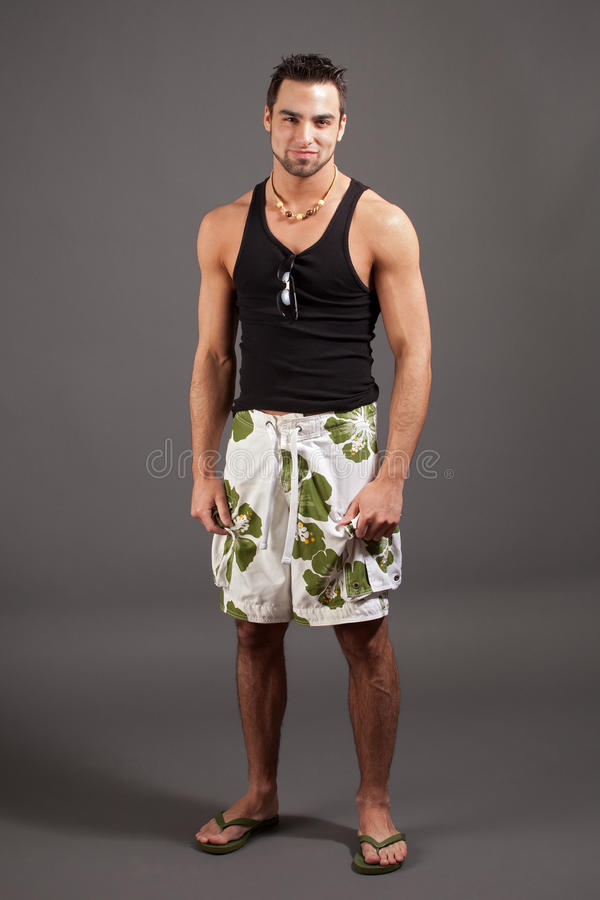 Mens in Swimwear stock afbeelding