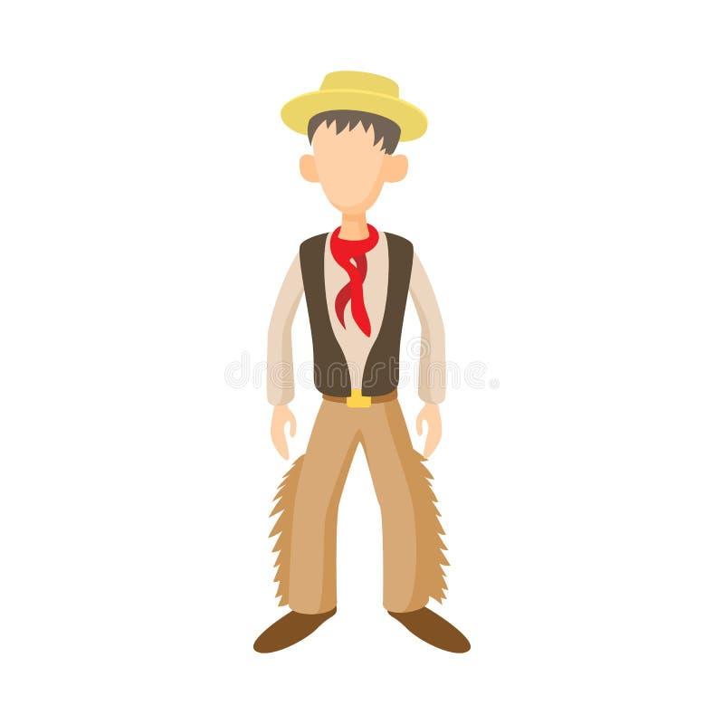 Mens in traditioneel kostuum van Argentijns pictogram vector illustratie