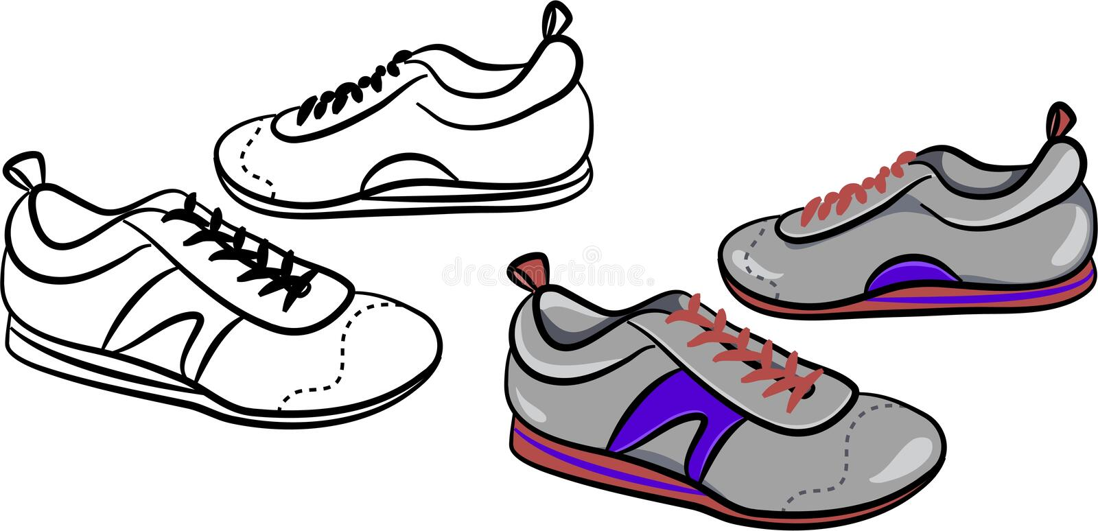 Download Mens trainers stock vector. Illustration of apparel, comfort - 713863