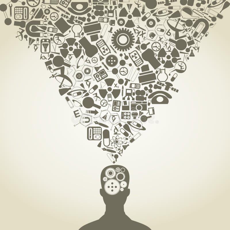 Mens van een wetenschap stock illustratie